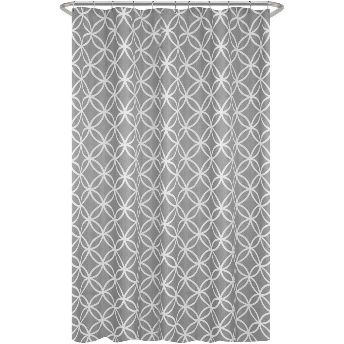 Maytex Emma Fabric Shower Curtain Gray Shower Curtains