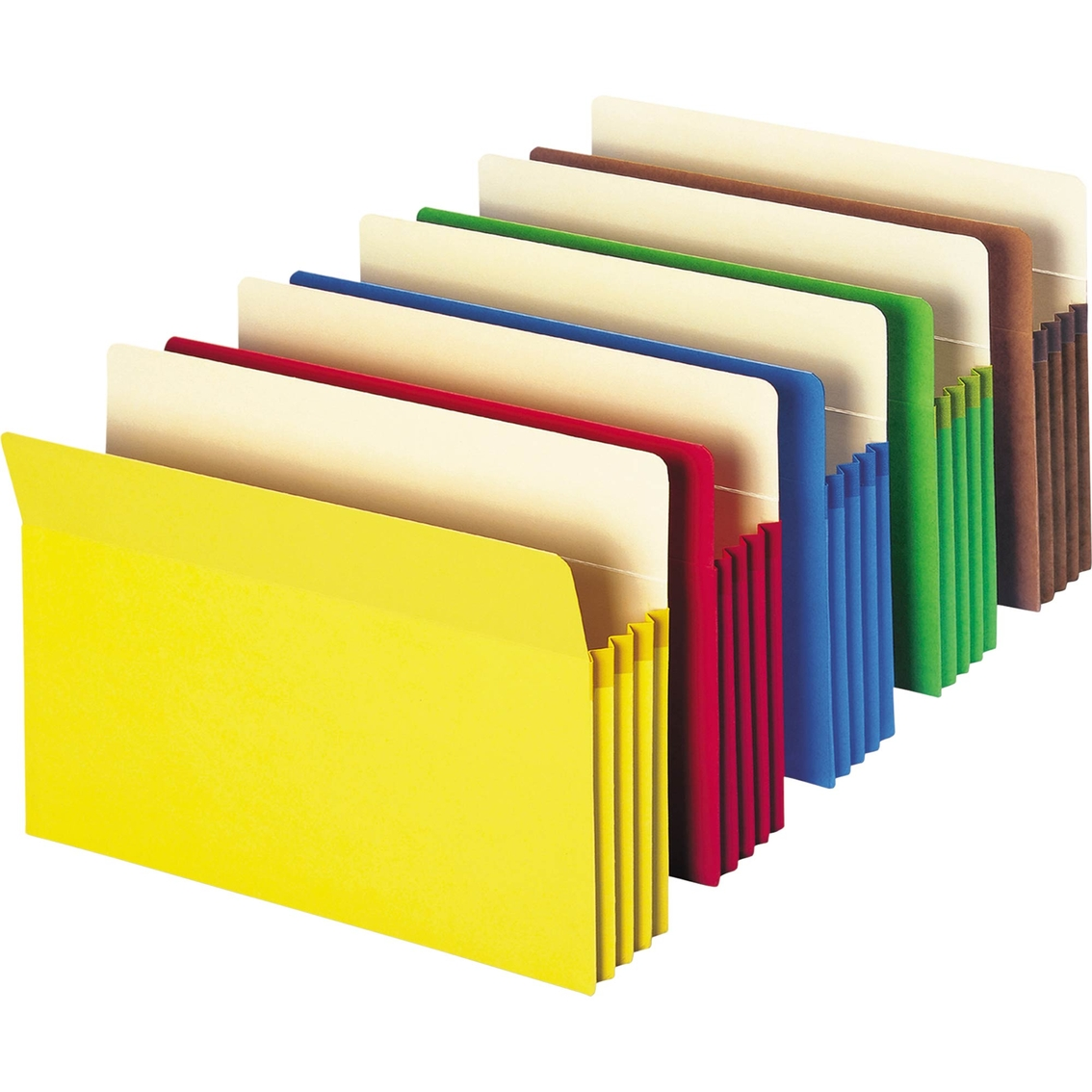 Smead 3 1/2 In. Expandable Colored File Pocket, Straight