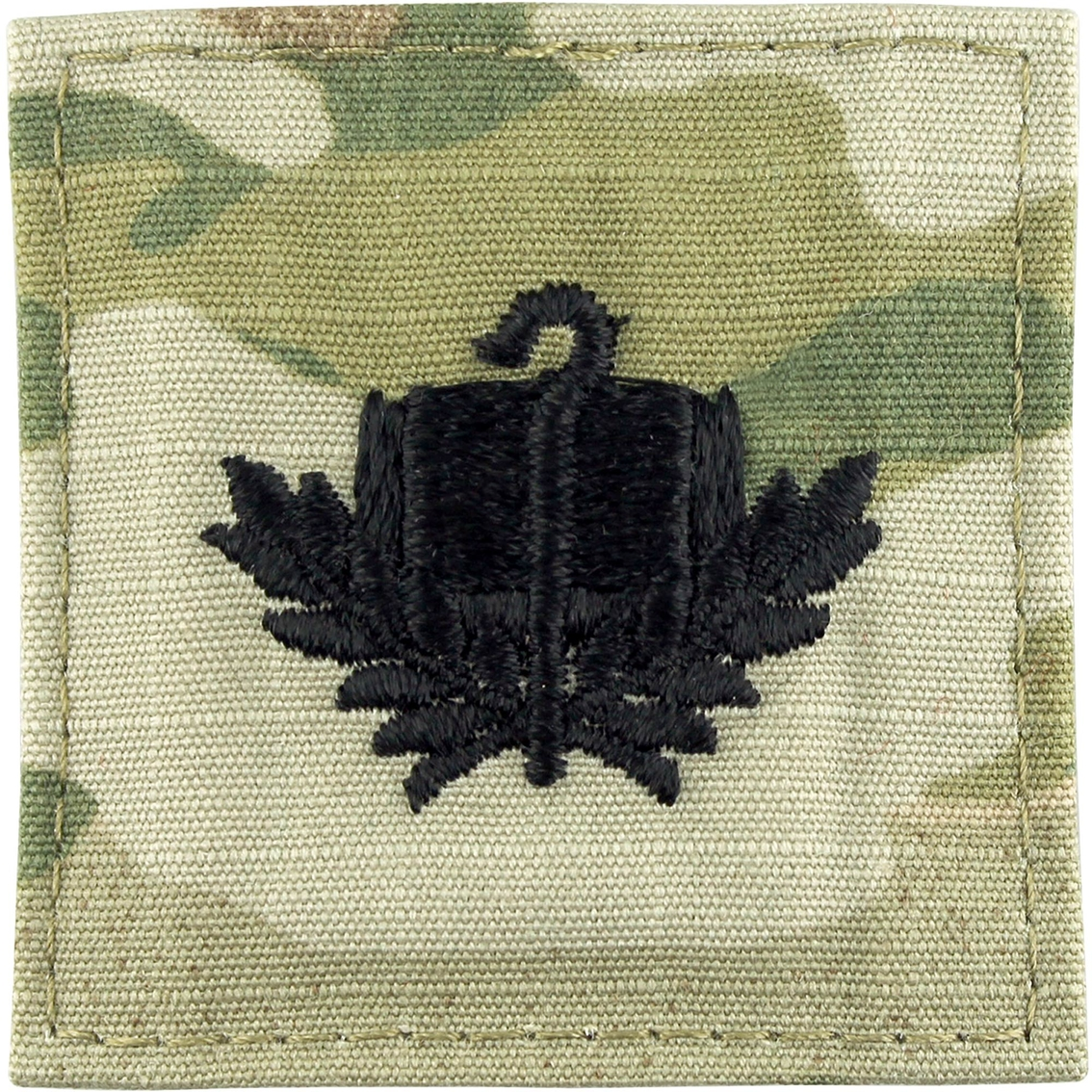 US Army Medical Corps Branch OD Green /& Black sewn set D