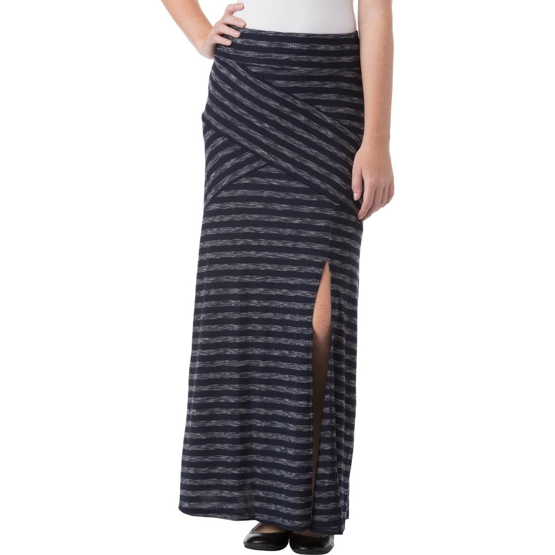 joe b juniors stripe rib knit maxi skirt skirts