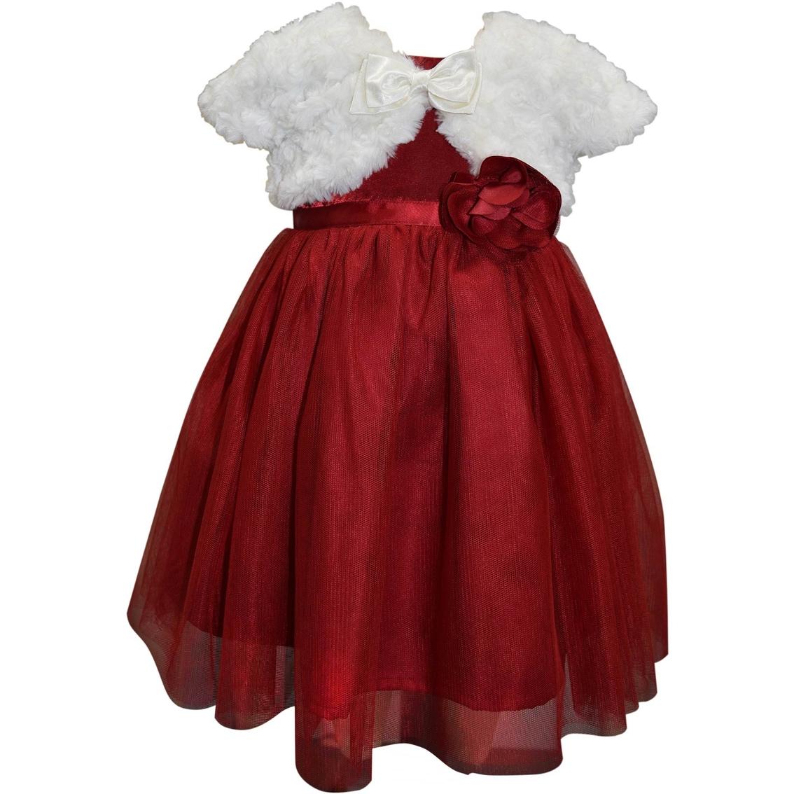 Blueberi Boulevard Infant Girls Ballerina Dress With Faux
