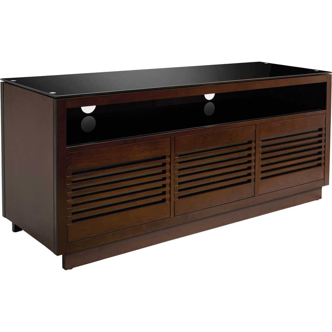 Bellu0027o Aim Wood Metal And Glass Audio Video Cabinet TV Stand