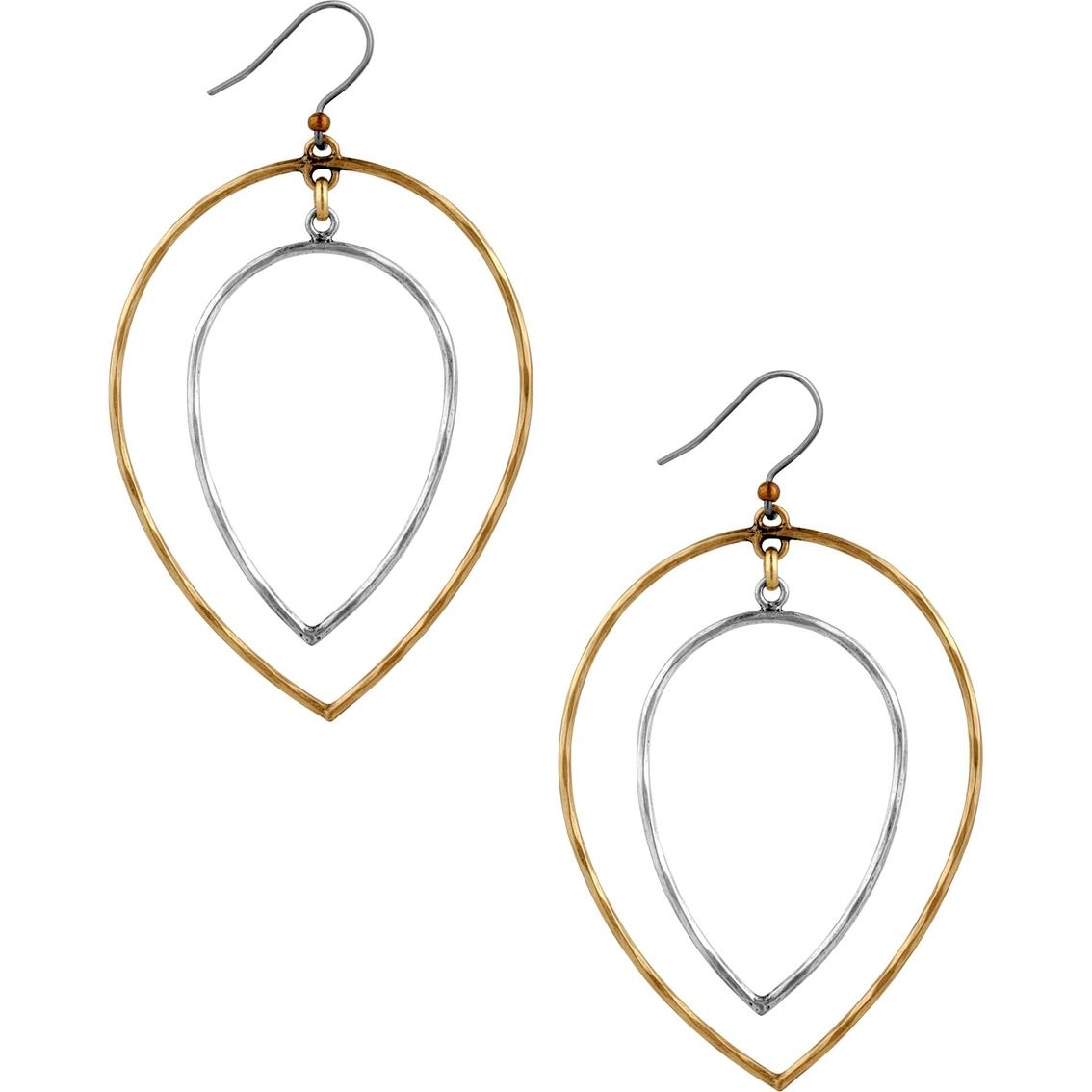 lucky brand two tone orbital earrings fashion