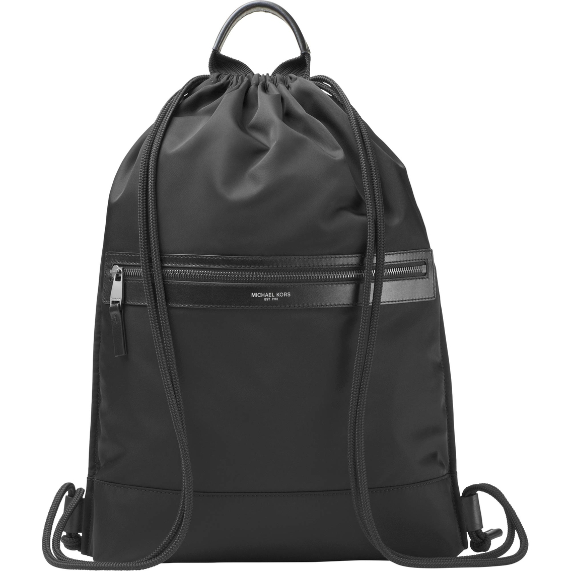 f4a465a1fa3b Michael Kors Kent Lightweight Nylon Flat Drawstring Backpack ...