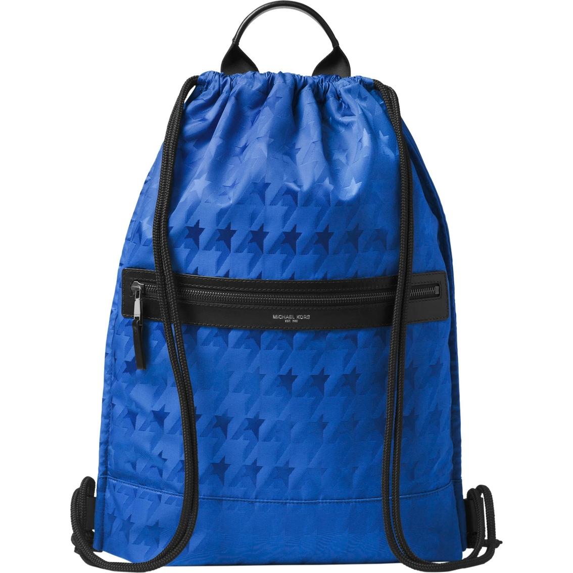891ac92aefca Michael Kors Kent Startooth Jacquard Flat Drawstring Backpack ...