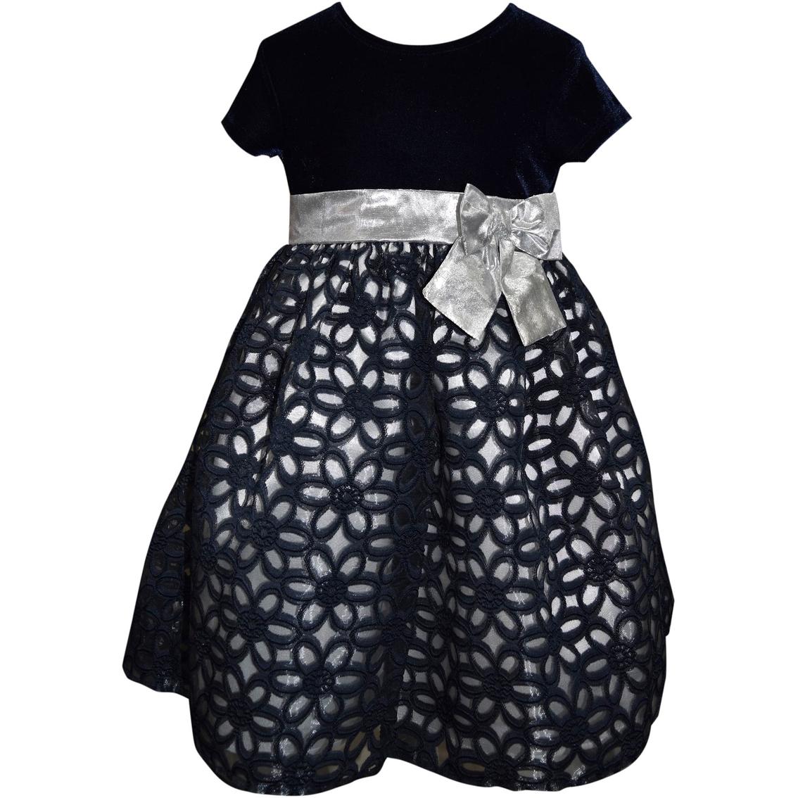 Blueberi Boulevard Little Girls Velvet Dress | Girls 4-6x ...