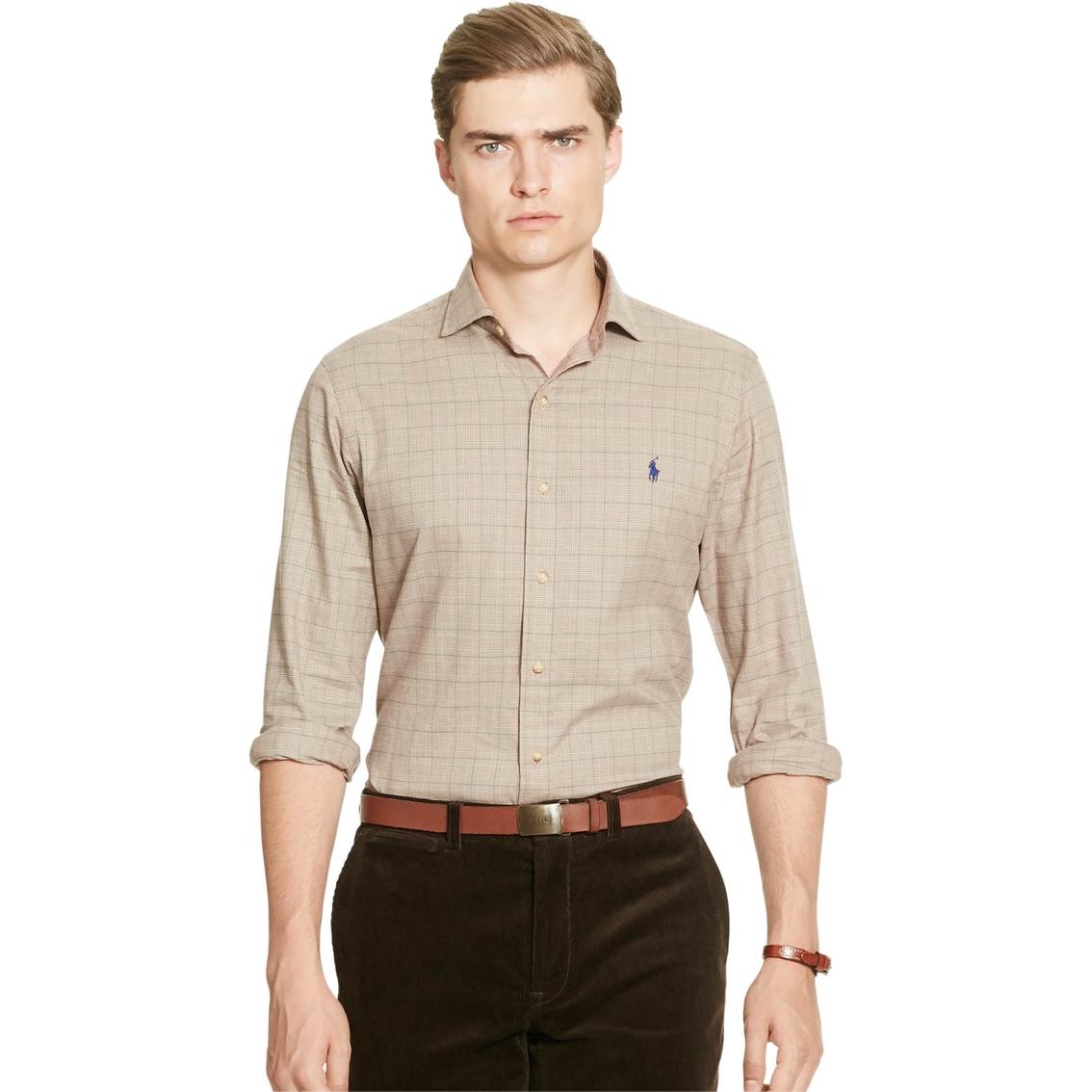 16113378f157 Polo Ralph Lauren Slim Fit Plaid Cotton Twill Shirt