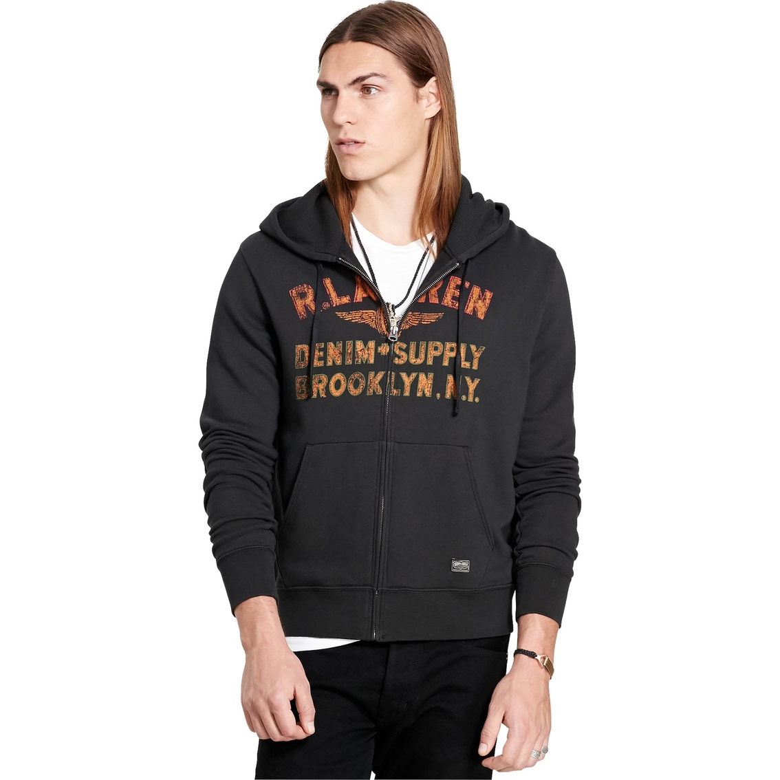 sale usa online new images of shoes for cheap Denim & Supply Ralph Lauren Cotton Terry Graphic Hoodie ...