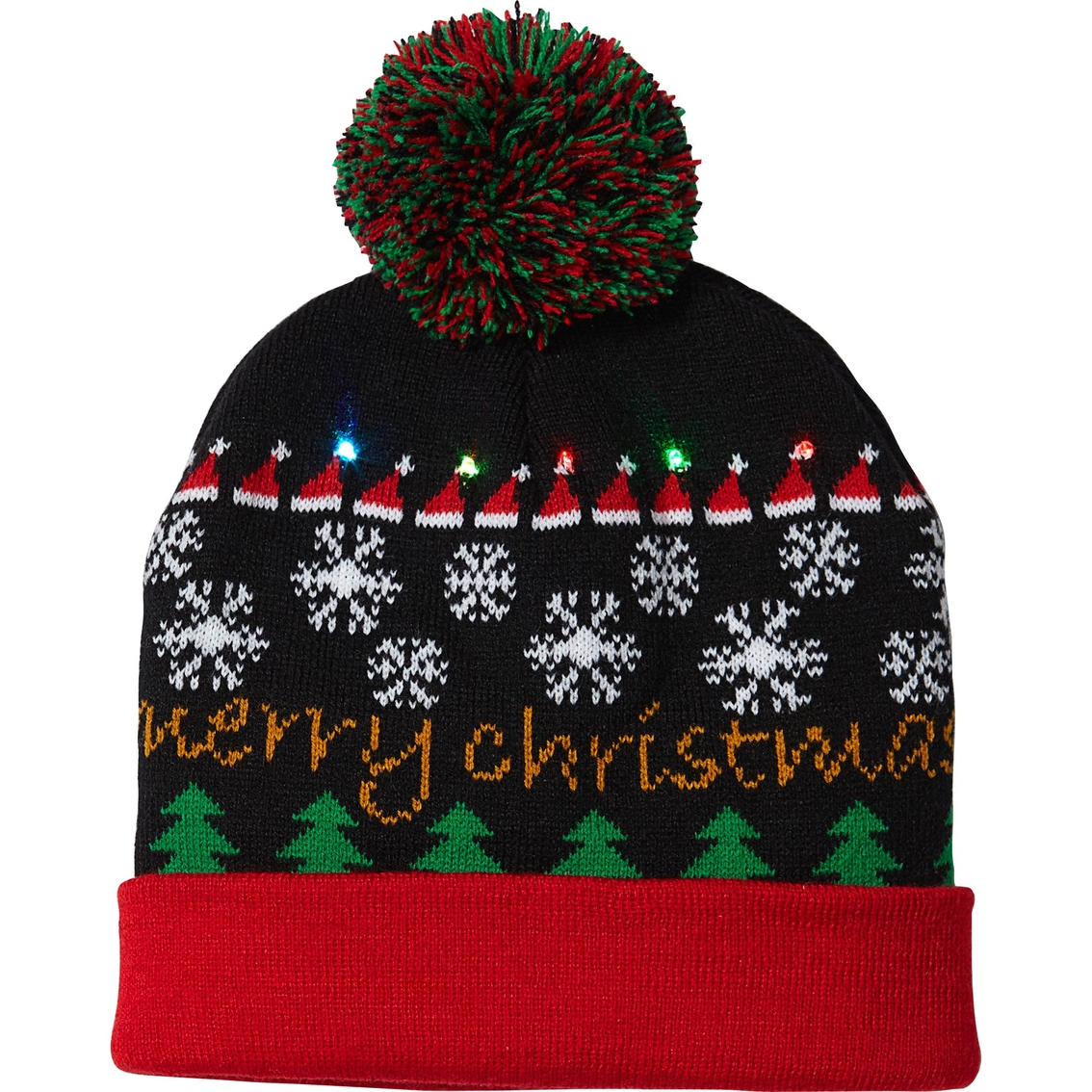 derek heart juniors light up merry christmas hat