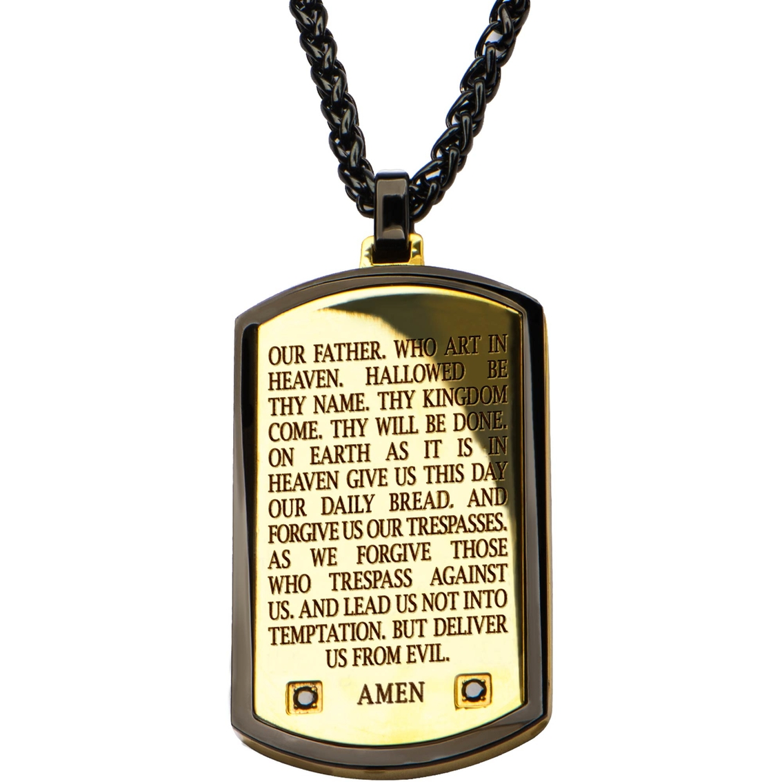 Stainless steel lords prayer pendant chains pendants jewelry stainless steel lords prayer pendant mozeypictures Choice Image