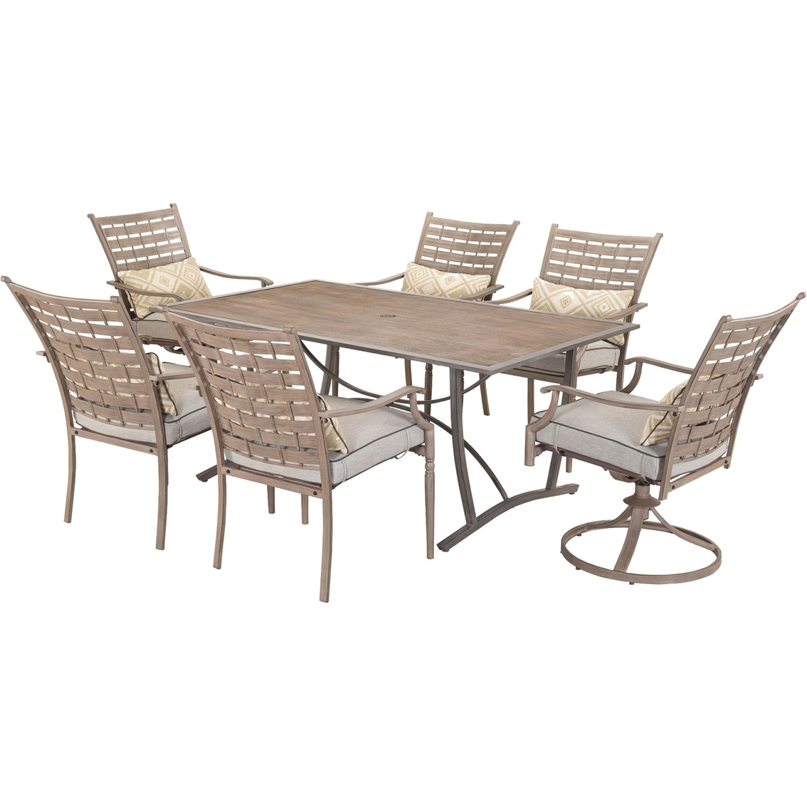 Courtyard Creations Melrosa 7 Pc. Hand Painted Dining Set