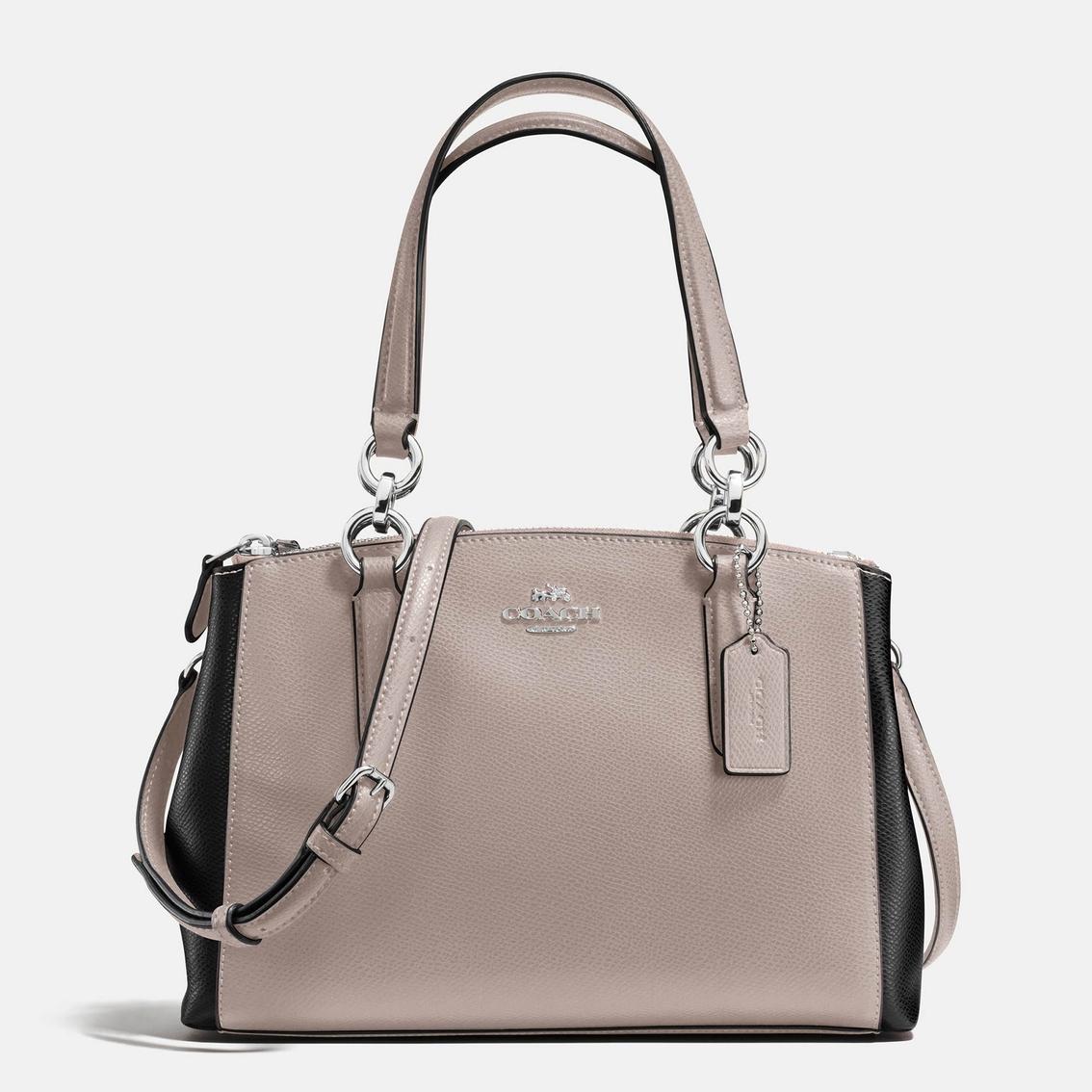 b2efe70b Coach Mini Christie Carryall Colorblock Crossgrain Leather Handbag ...