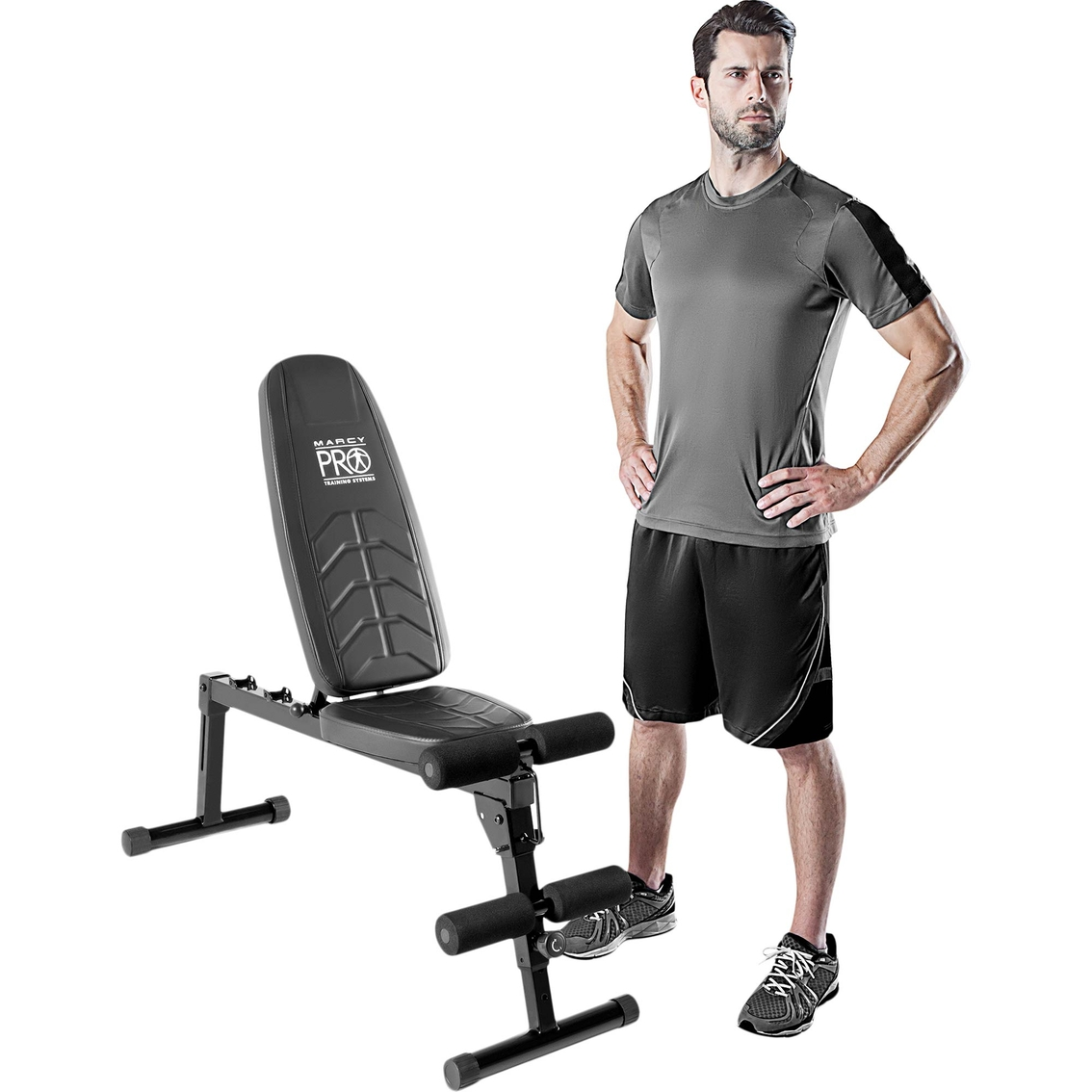 Impex Marcy Deluxe Utility Bench Pm10110 Strength Training Sports Outdoors Shop The Exchange