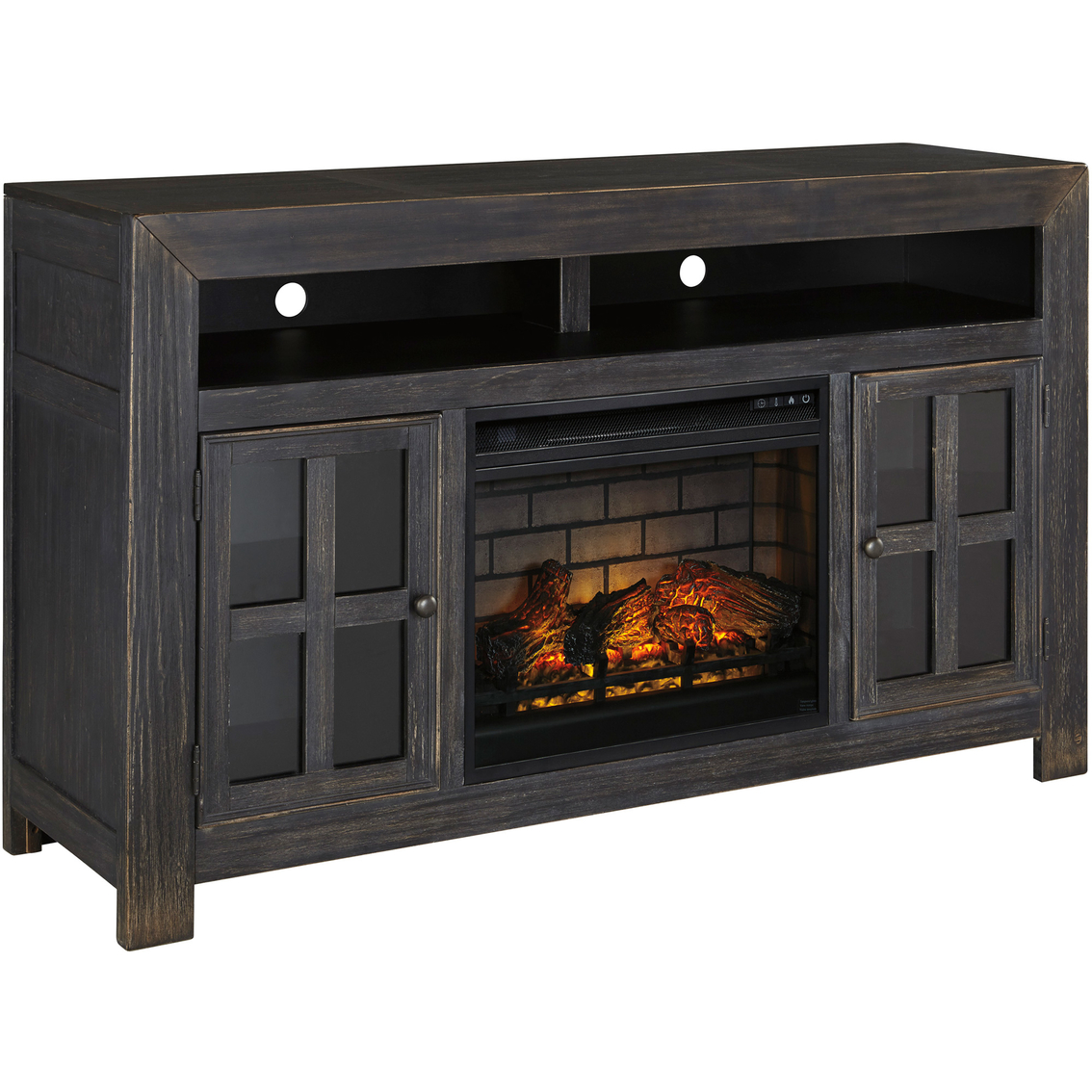 Ashley Gavelston Tv Stand With Fireplace Insert Media