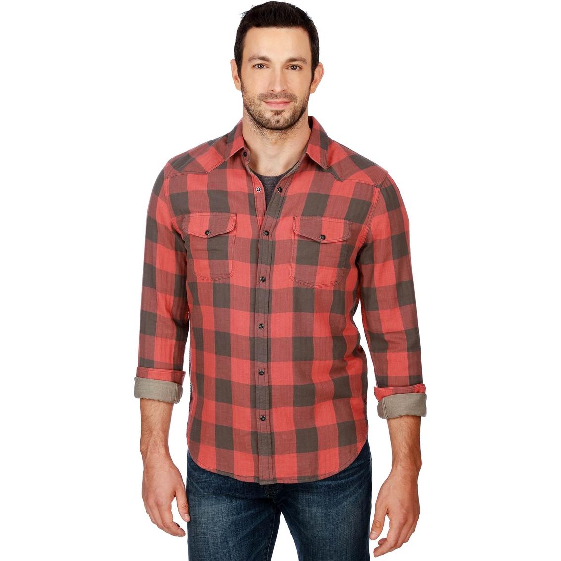 b14513965b Lucky Brand Santa Fe Western Woven Shirt