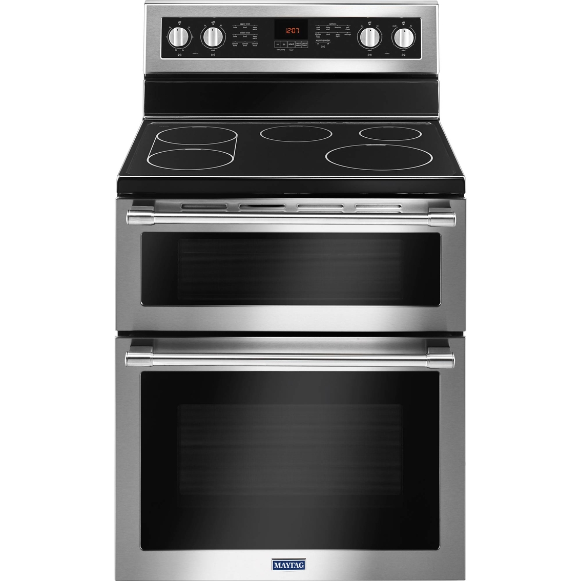 Maytag 6 7 cu ft electric range with double convection oven electric ranges home - Maytag electric double oven range ...