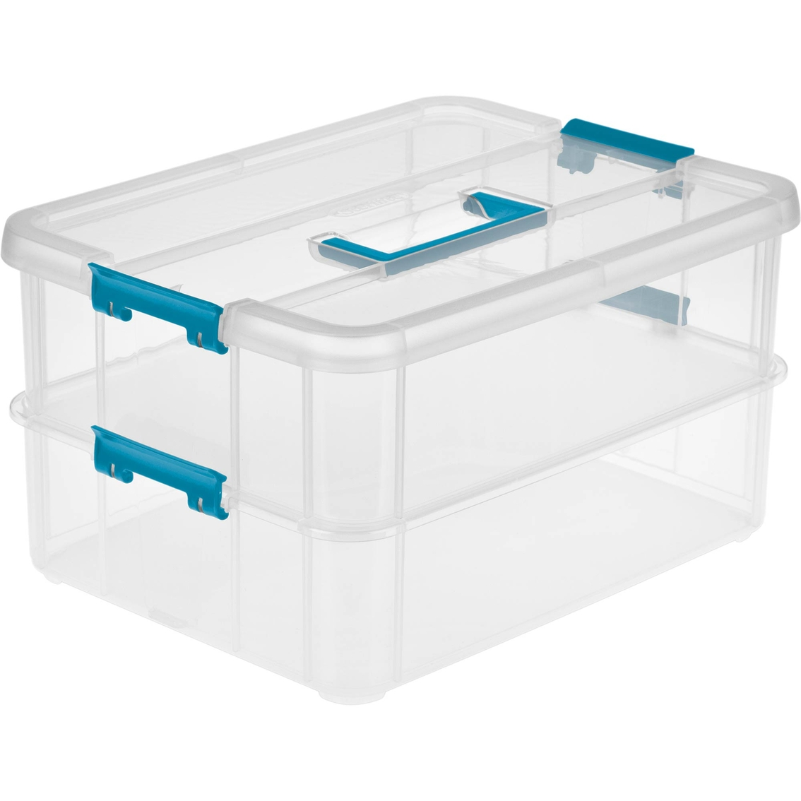 Sterilite Stack And Carry 2 Layer Handle Box | Plastic Bins ...