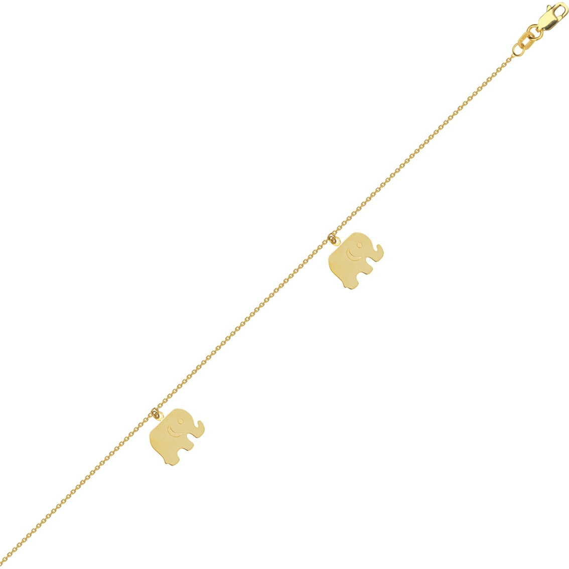 anklet jewelry ankle yellow tiny pin heart gold bracelets