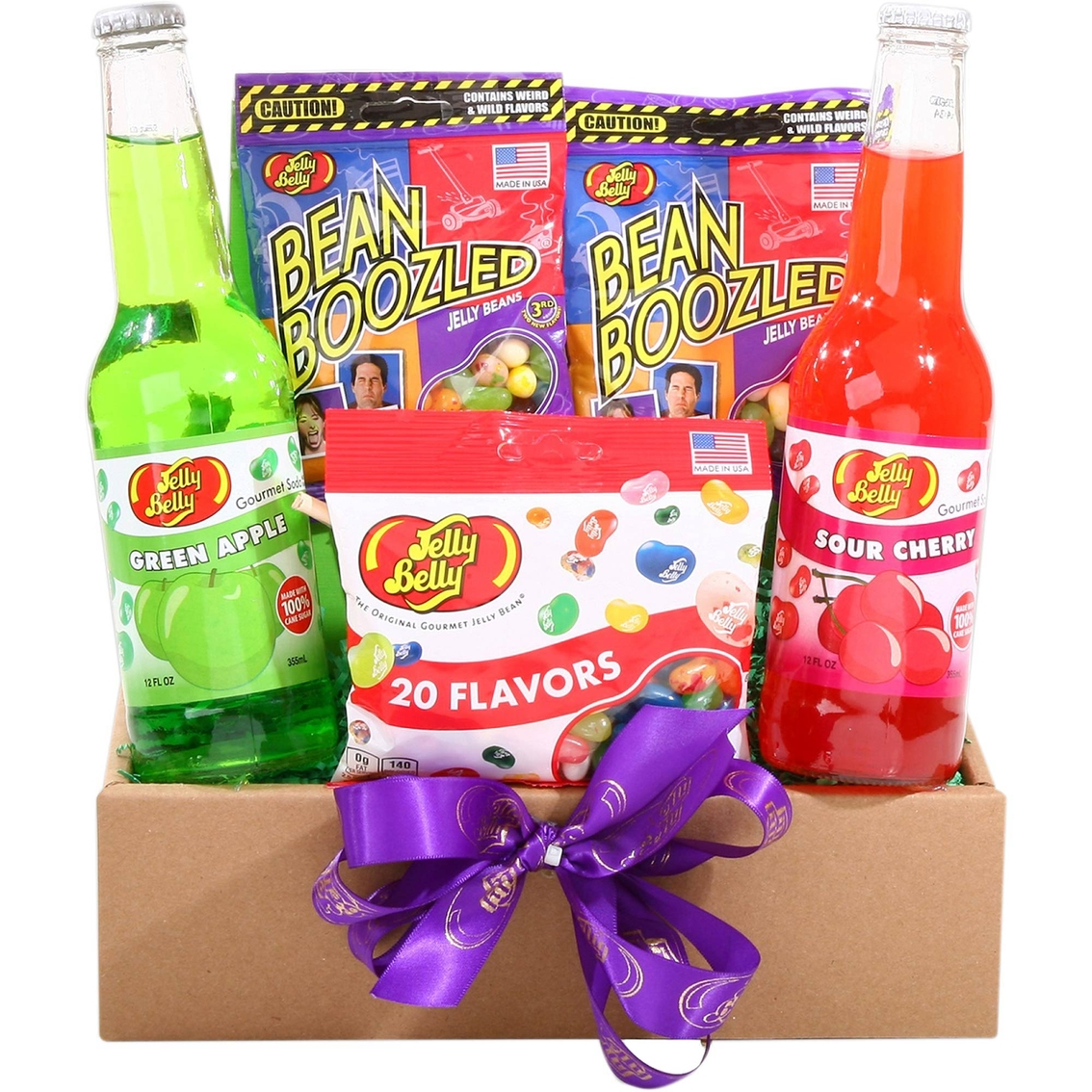 Alder Creek Gift Baskets Assortment of Jelly Belly Treats Gift Box