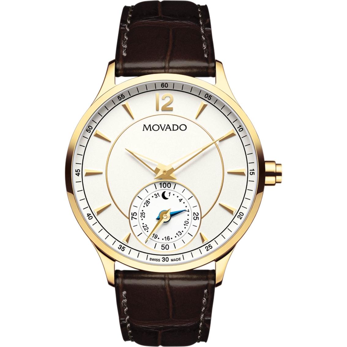 Movado Men S Move Circa Motion Brown Leather Strap Smart Watch