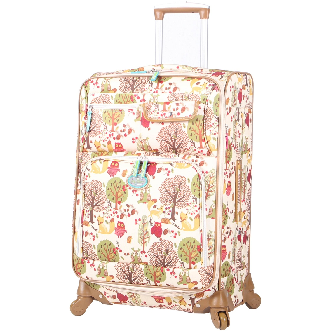 Lily Bloom Forest Owl 20 In Expandable Spinner Luggage