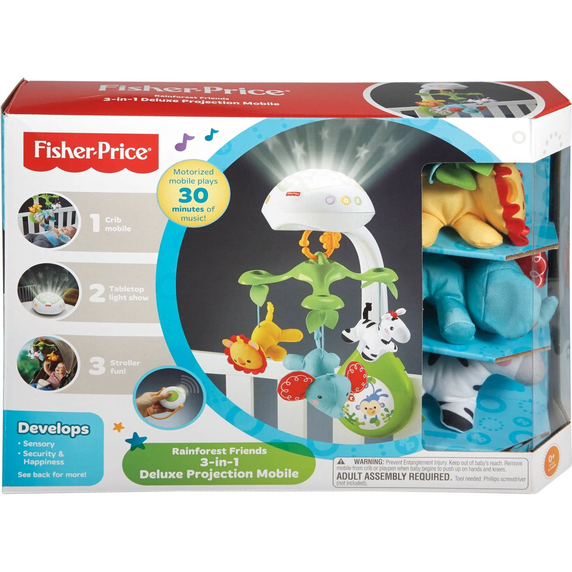 Fisher Price 3 In 1 Dlx Projection Mobile Mobiles Baby Toys