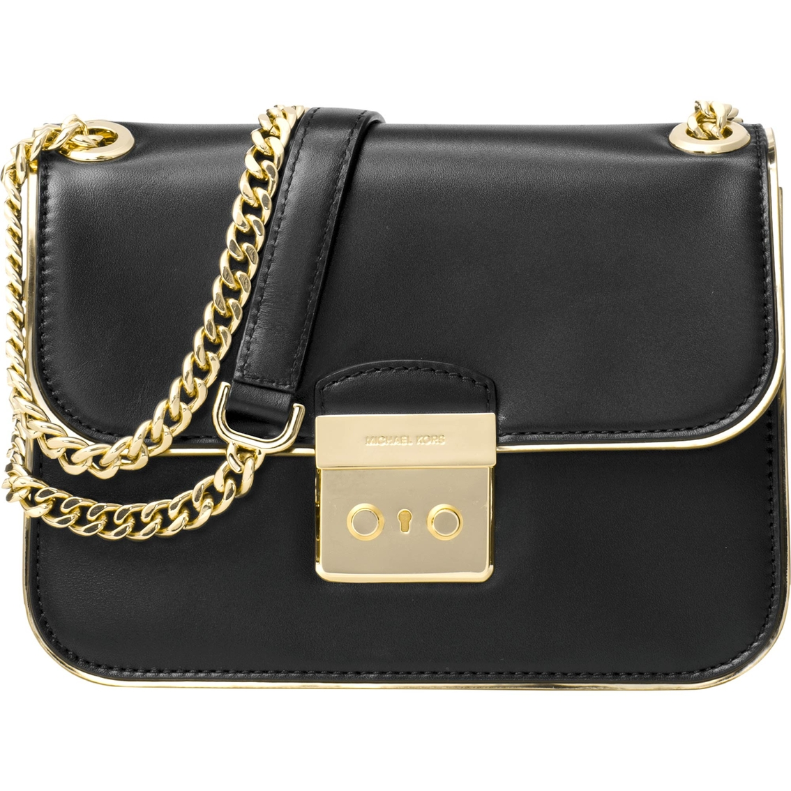 8c626349e9f Michael Kors Sloan Editor Medium Chain Shoulder Bag