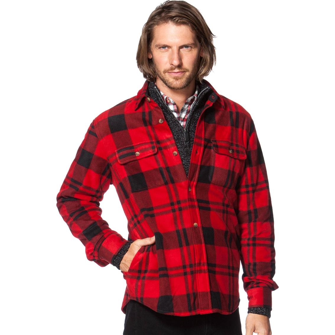 ce00102b3d5 Chaps Buffalo Plaid Fleece Shirt Jacket