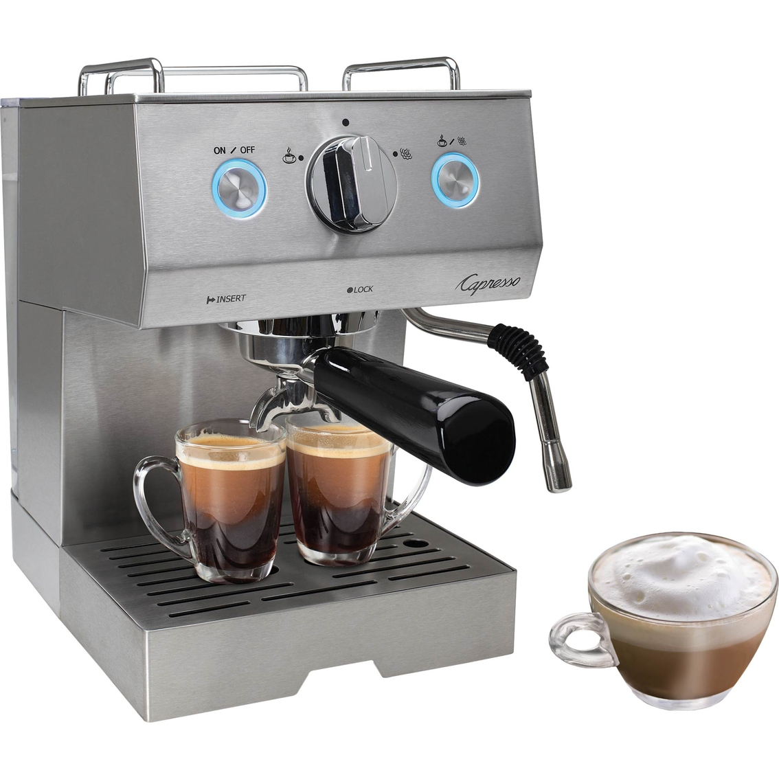capresso cafe pro espresso cappuccino machine espresso machines home appliances shop. Black Bedroom Furniture Sets. Home Design Ideas