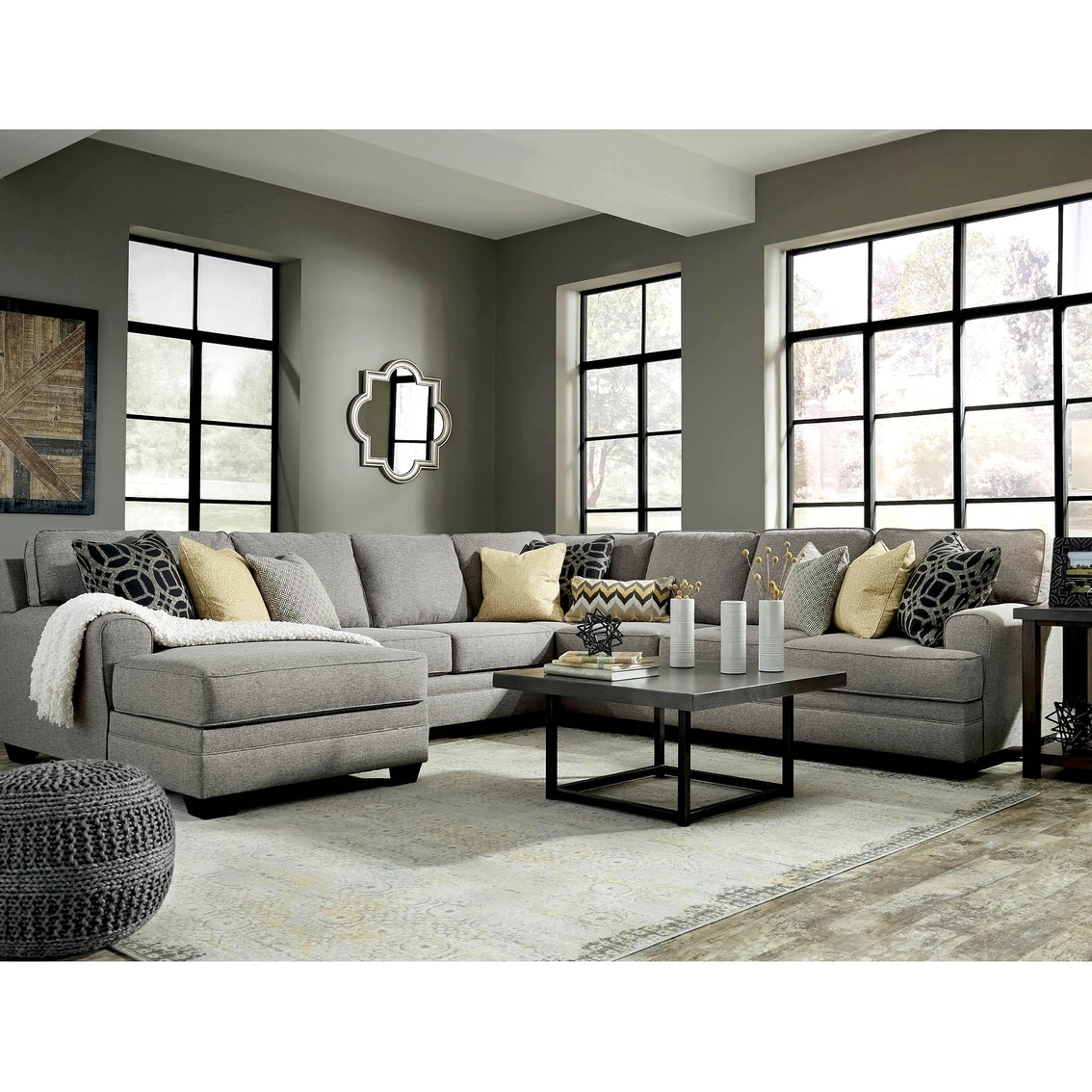Benchcraft cresson 4 pc. sectional laf corner chaise raf loveseat