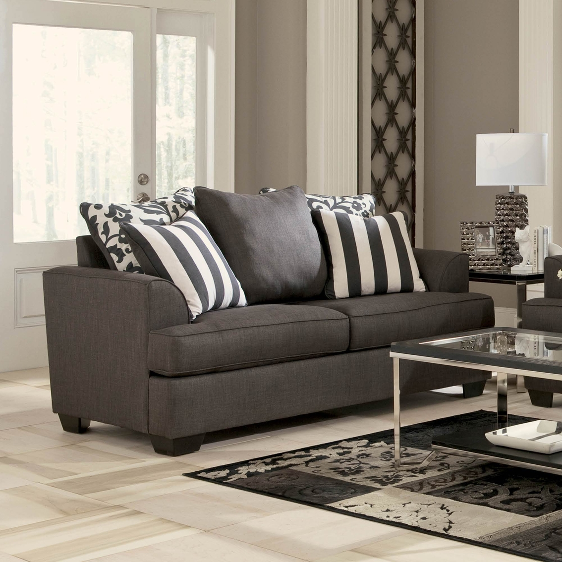 Signature Design By Ashley Levon Loveseat Charcoal