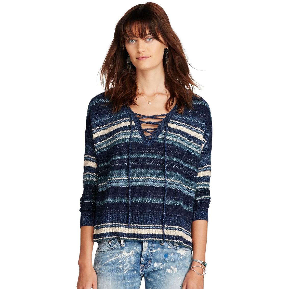 Denim & Supply Ralph Lauren Lace Up Tunic Sweater   Women's ...