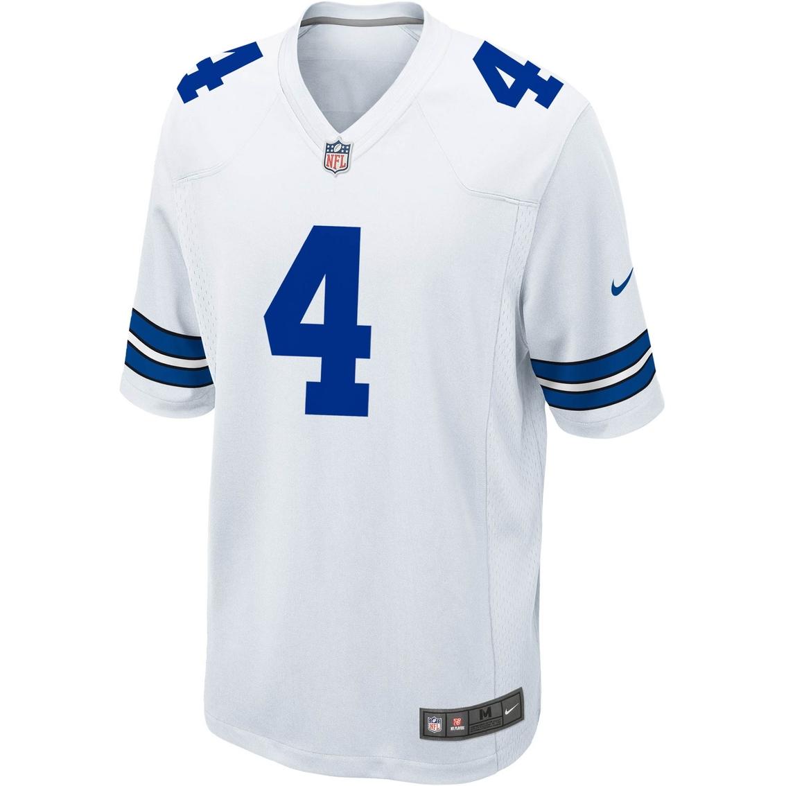 watch 07d64 cc0d2 Nike Nfl Dallas Cowboys Prescott Game Jersey, White ...