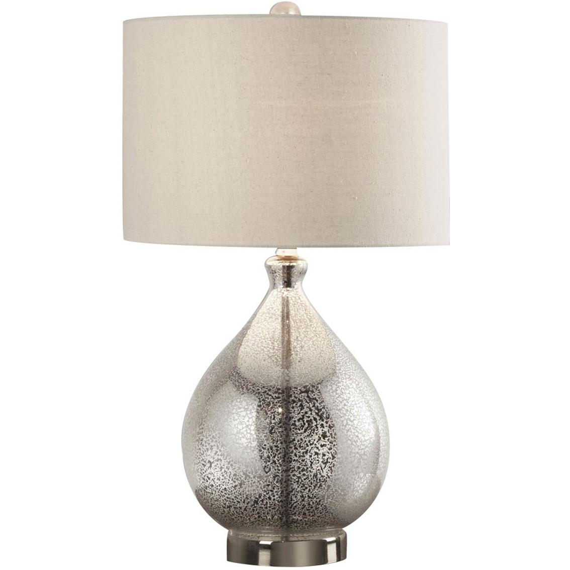 silver mercury glass tear drop table lamp - Mercury Glass Lamps
