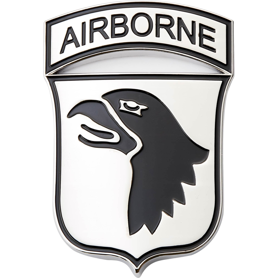 Shadow Six Romeo Military Army Chrome Metal Decal Auto Emblem