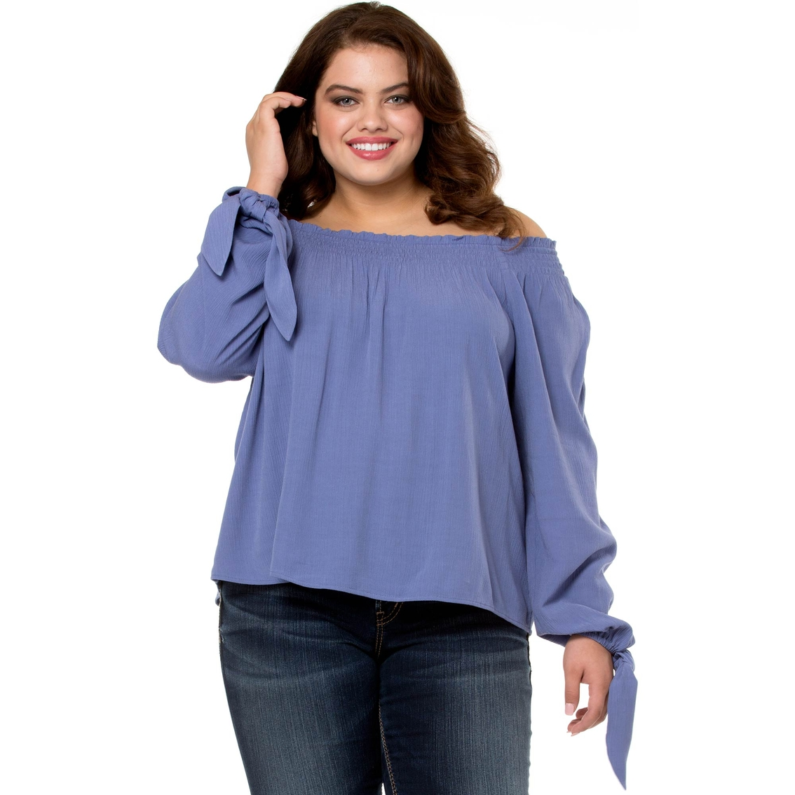 Living Doll Plus Size Off The Shoulder Woven Top Women 39 S