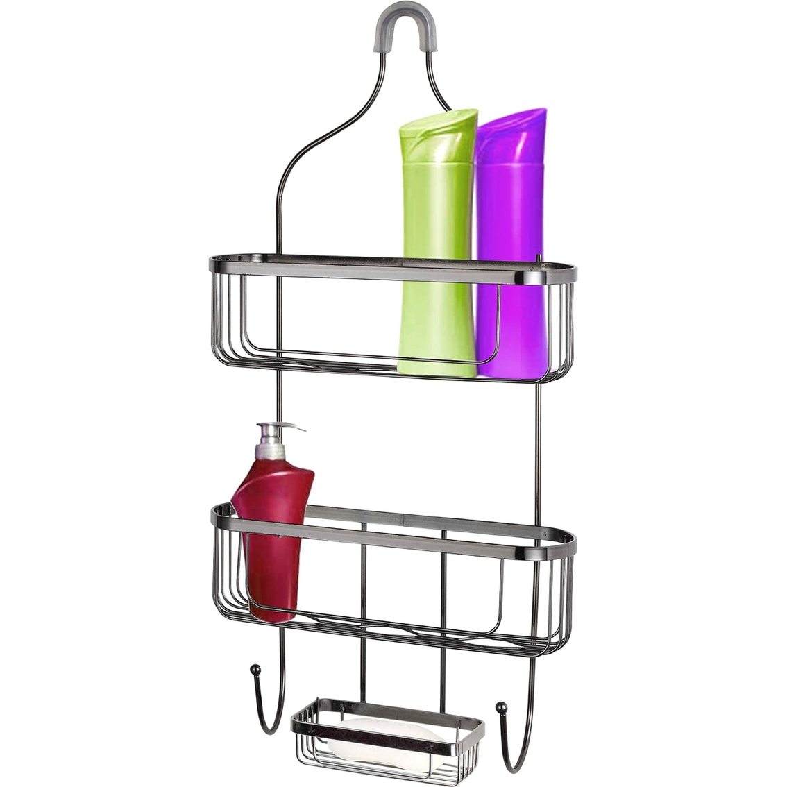 Home Basics Large Black Shower Caddy | Tub & Shower Accessories ...