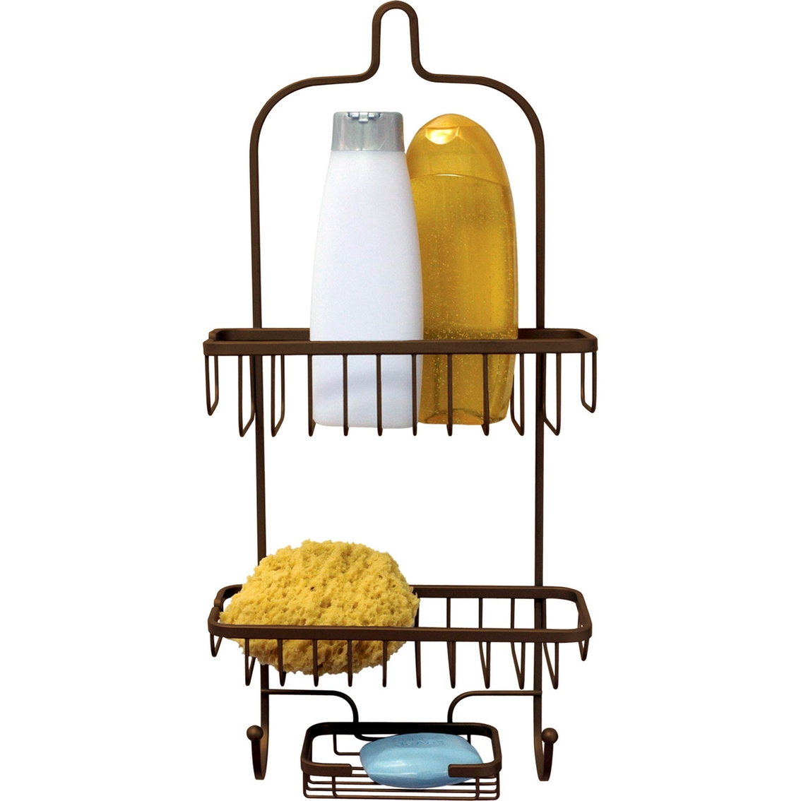 Home Basics Bronze Heavyweight Shower Caddy | Tub & Shower ...