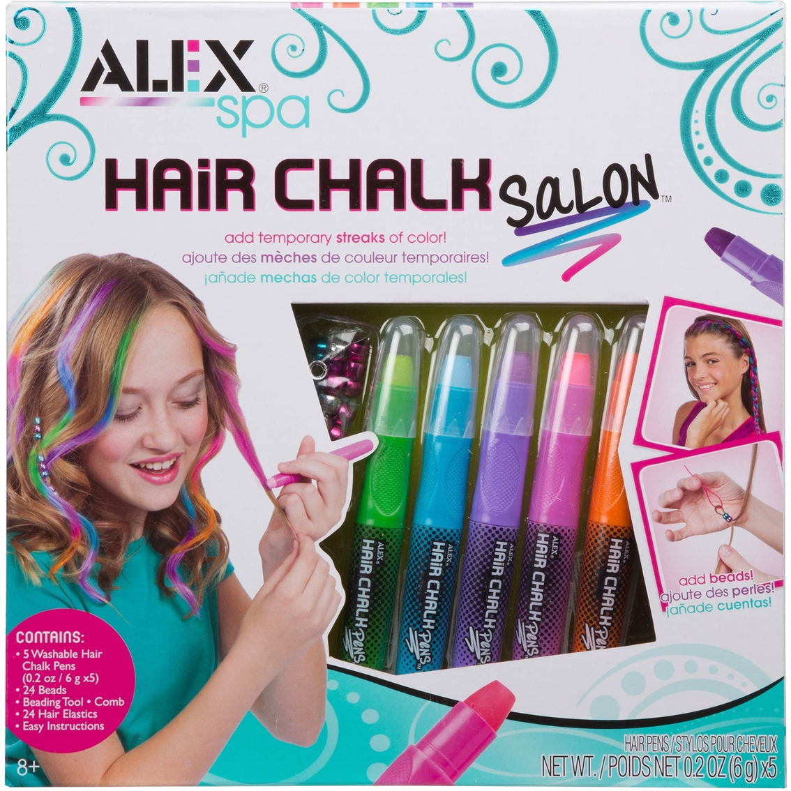 Alex Toys Alex Spa Hair Chalk Hair, Nails, Makeup Craft Kit ...