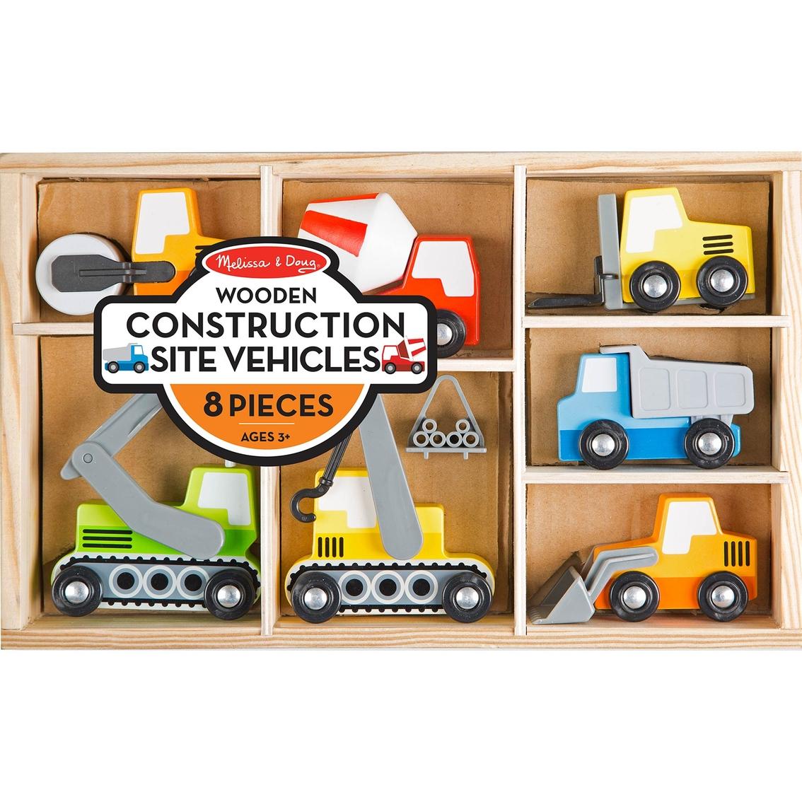 Melissa Doug Wooden Construction Site Vehicles Play