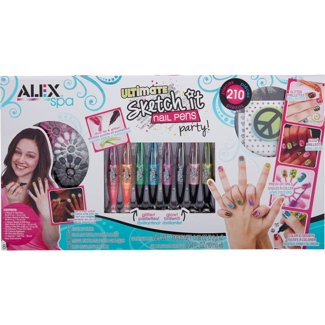 Alex Spa Ultimate Sketch It Nail Pens Party | Kids\' Crafts | Baby ...