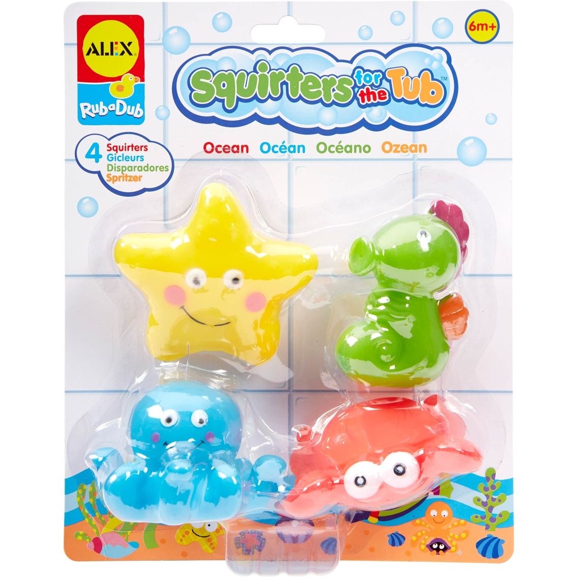 Alex Toys Rub A Dub Squirters For The Tub, Ocean | Bath Toys | Baby ...