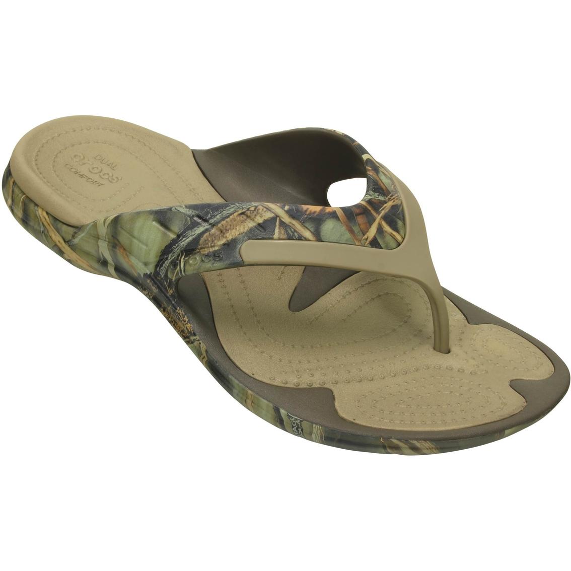 Crocs Men S Modi Sport Realtree Max 4 Flip Flop Sandals