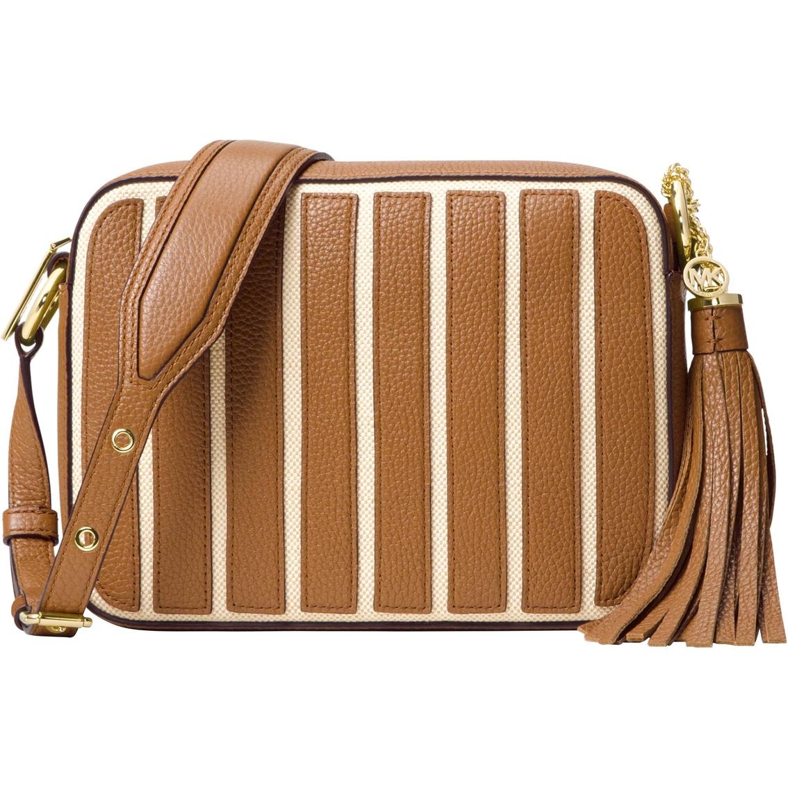 fbed09ec59 Michael Kors Brooklyn Applique Stripe Large Canvas Camera Bag ...