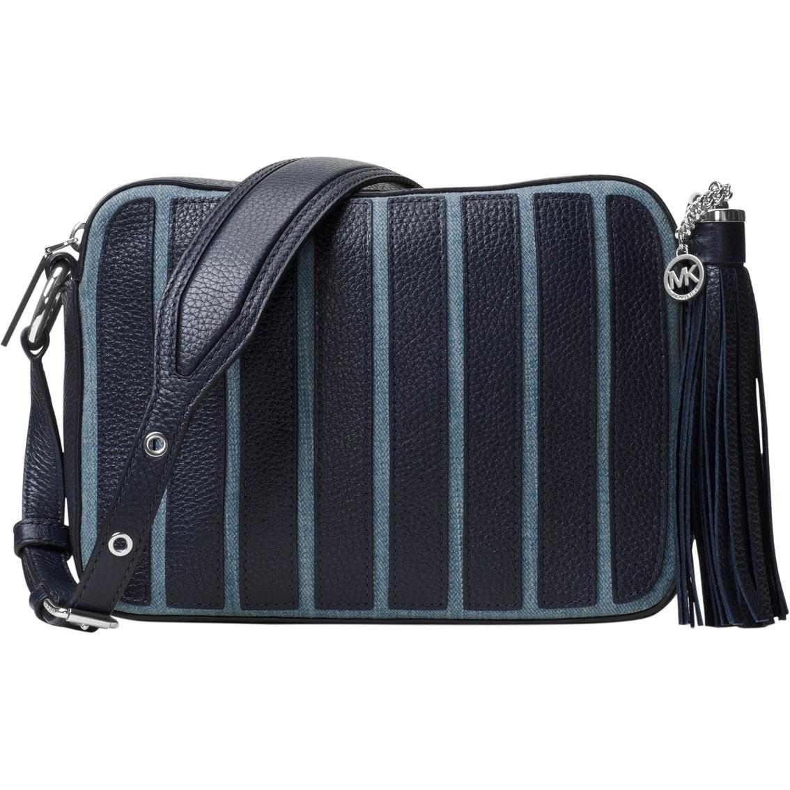 Michael Kors Brooklyn Lique Stripe Large Camera Bag