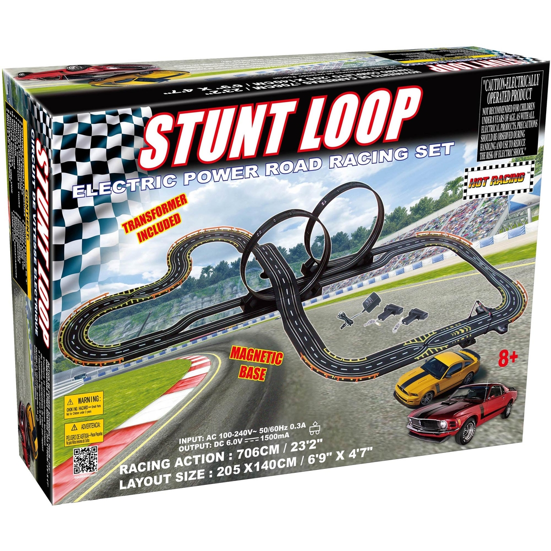 Golden Bright Electric Stunt Loop Road Racing Set