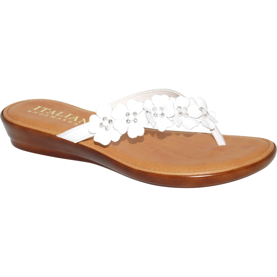 Italian Shoemakers Smilla Flower Thong Flats Flats Shoes Shop