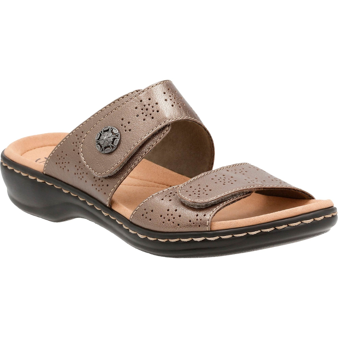 Clarks Women's Leisa Lacole Two Strap Velcro Sandals