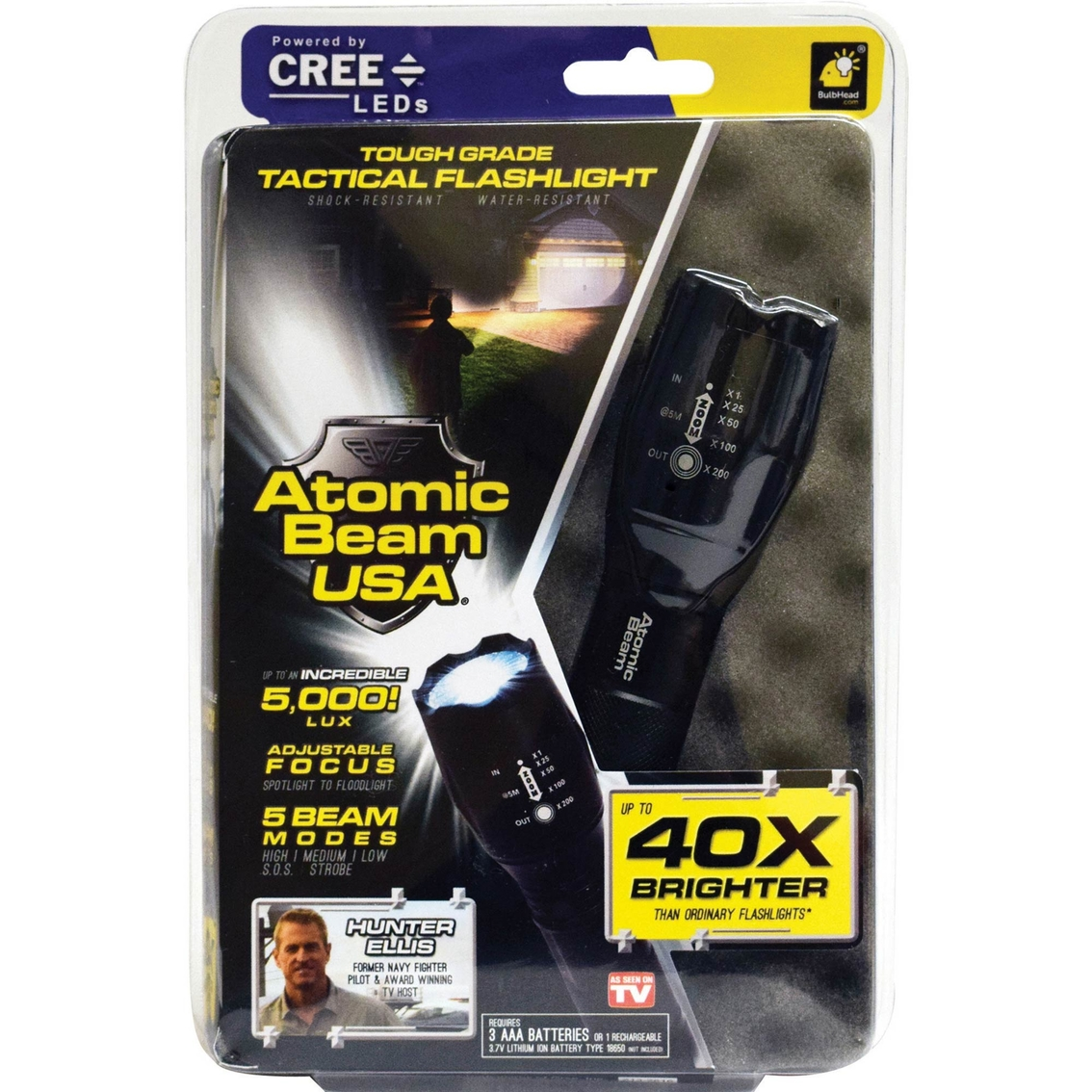Telebrands Atomic Beam Flashlight Infomercial Products