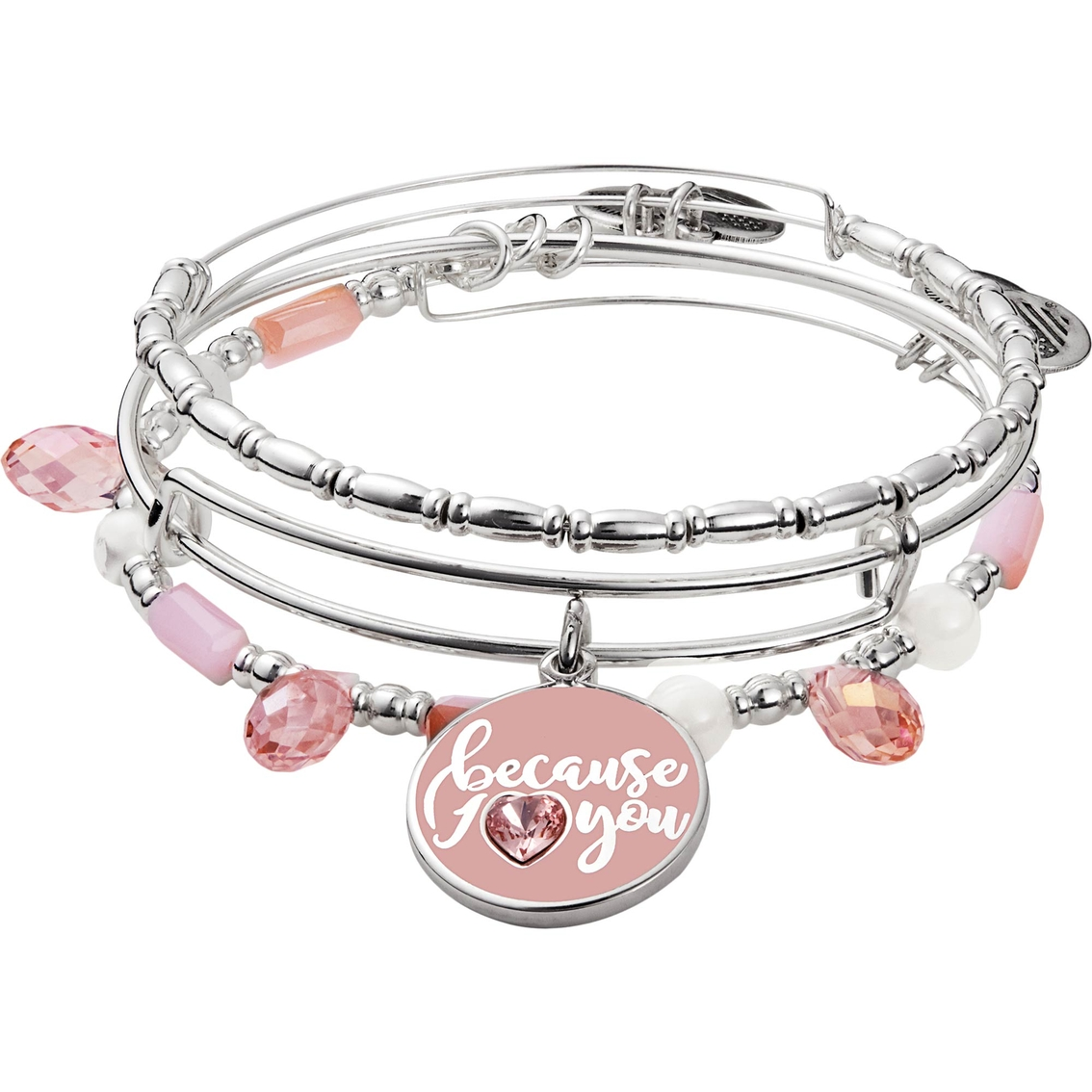 Alex And Ani Because I Love You 3 Pc Bangle Set